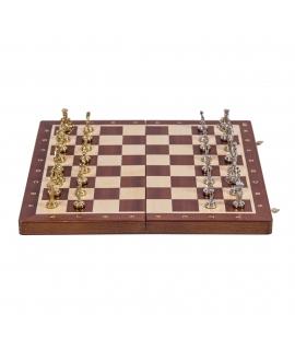 Schach Rom - T4 - Mahagoni / Metall