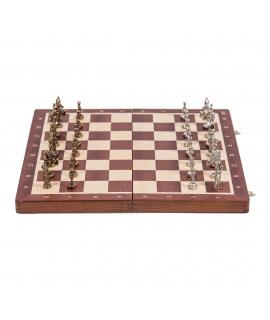 Chess Warsaw - Mahogany / Metal