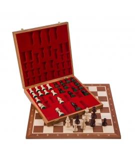 Scacchi in legno Set No 6 - Mogano Lux