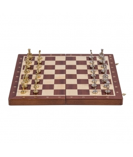 Chess Roman - T4 - Mahogany / Metal