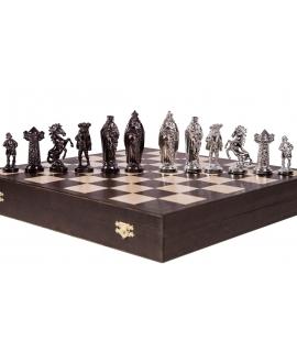 Piezas de ajedrez Medieval - Silver Edition