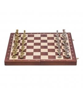 Chess Tournament No 4 - Mahogany / Metal