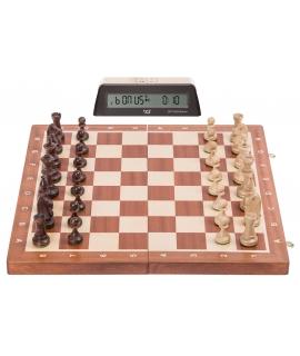 Set S2 - Chess Staunton No 5 + Clock DGT 1002